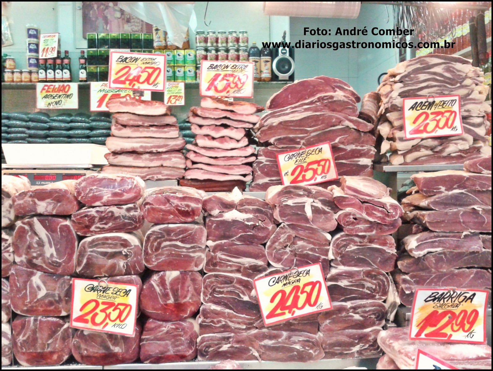 Mercado da Lapa, Sao Paulo, carne seca