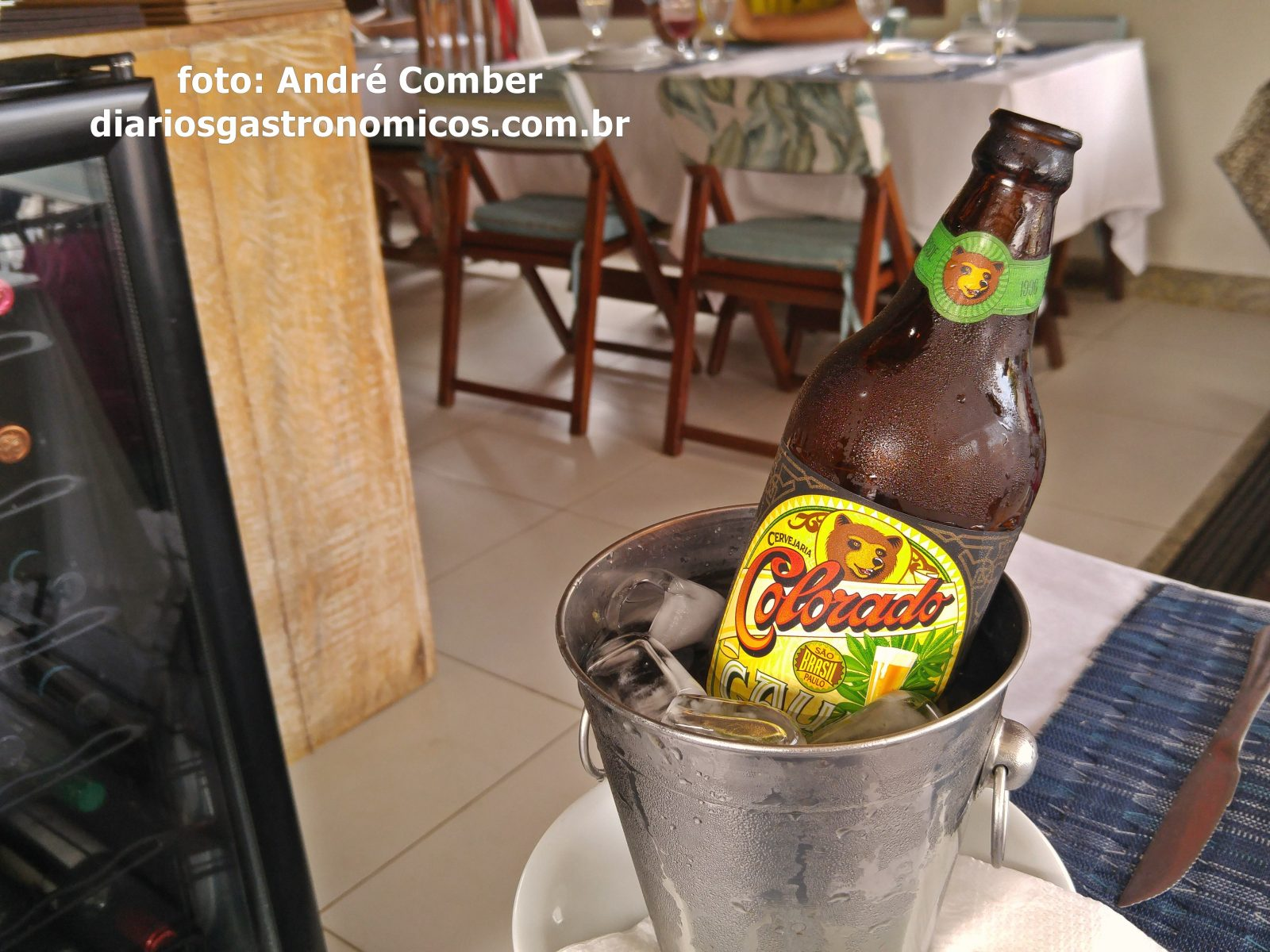 Restaurante Papa Gente, Praia do Forte, cerveja gelada